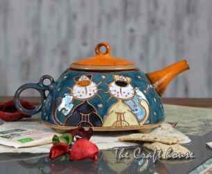 Ceramic pot 'Cats'