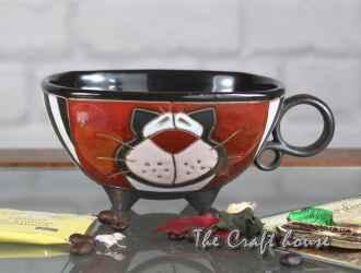 Керамична чаша ' Котка'