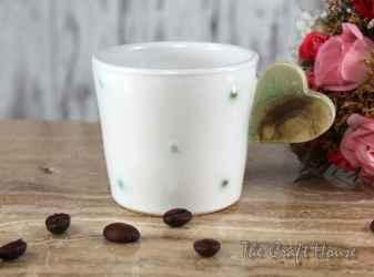 Чаша за кафе с дръжка сърце