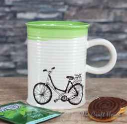 Mug with a bicycle
