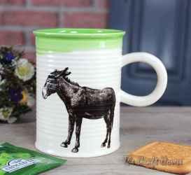 Mug with a donkey