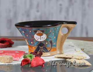 Ceramic coffee cup'Cats'