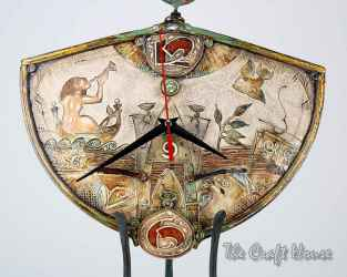 Керамичен часовник с ковано желязо