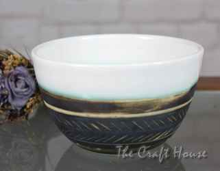 Ceramic bowl 'Feathers'