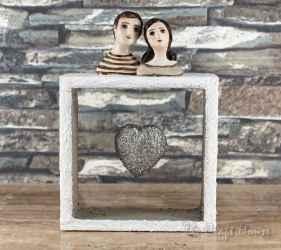 Wooden ceramic sculpture