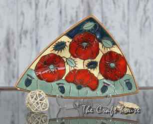 Ceramic plate 'Poppies'