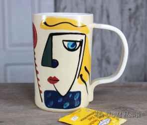 Ceramic mug ' Faces '