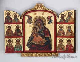 Триптих Богородица с дванадесетте апостола