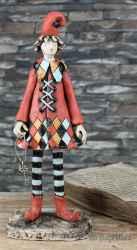 Ceramic sculpture 'The little clown'
