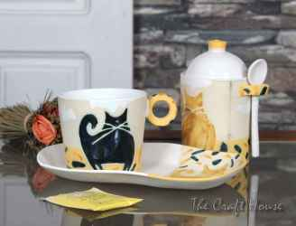 Ceramic set 'Cats'
