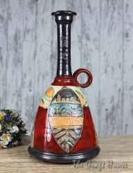 Керамична бутилка с декорация