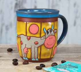Ceramic cup ' Cow '