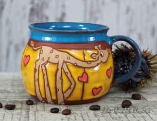 Ceramic cup ' Giraffe'