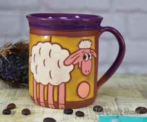 Ceramic cup ' Sheep '