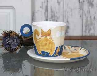 Ceramic set 'Cats'