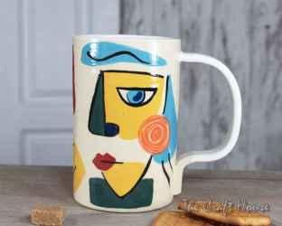 Ceramic cup ' Faces '