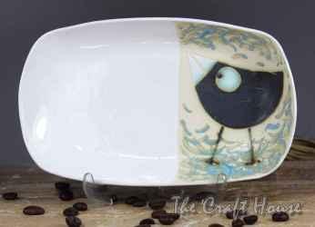 Ceramic plate 'Birds'