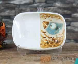 Ceramic saucer 'Bird'