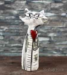 Ceramic sculpture 'Cat'