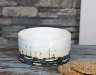 Ceramic bowl ' Boats '
