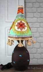 Ceramic lamp' Sunflowers '
