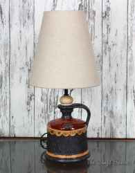 Ceramic lamp 'Red and black'