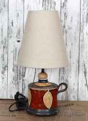 Керамична лампа 'Листо'