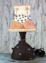 Ceramic art lamp 'Windmills'