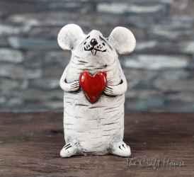 Ceramic sculpture 'Mouse'