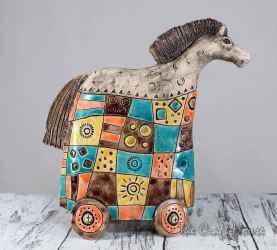 Ceramic sculpture Horse