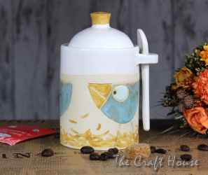 Ceramic sugar bowl 'Birds'