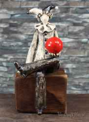 Ceramic sculpture 'Clown'