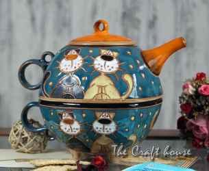 Комплект за чай 'Котки'