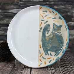 Ceramic saucer 'Cats'