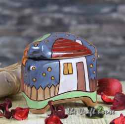 Кутийка за бижута 'Къщи'