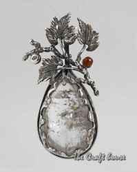Сребърен медальон с Рутилов кварц