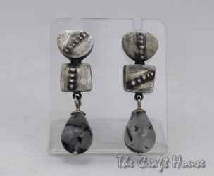 Silver earrings with Quartz