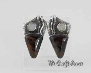 Сребърни обеци с Дендрит ахат