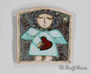 Керамично декоративно пано 'Ангел'