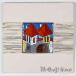 Керамично пано 'Къщи'