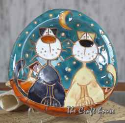 Ceramic ashtray 'Cats'