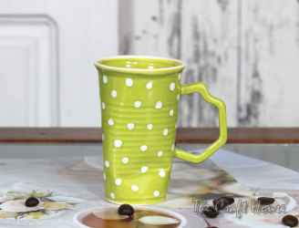 Green cup with dots