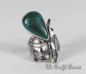 Сребърен пръстен с Хризокола