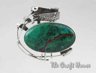Silver pendant with Chrysocolla