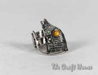 Сребърен пръстен с цветен седеф