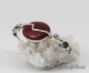 Sterling silver bracelet with Jasper
