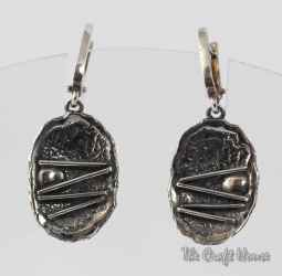 Silver earrings ' Directions '