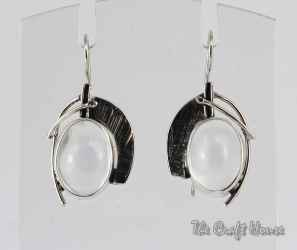Silver earrings with Rock crystal