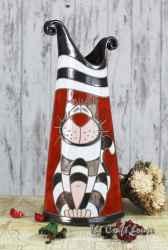 Голяма ваза 'Черно-бяло коте'