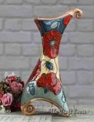 Керамична ваза с макове